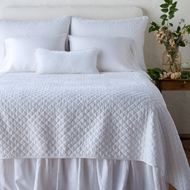 Bella Notte Silk Velvet Quilted Coverlet